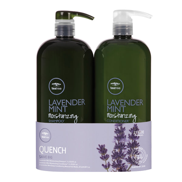 TEA TREE - Lavender Mint Moisturizing Shampoo & Conditioner Liter Duo - Hypnotic Store
