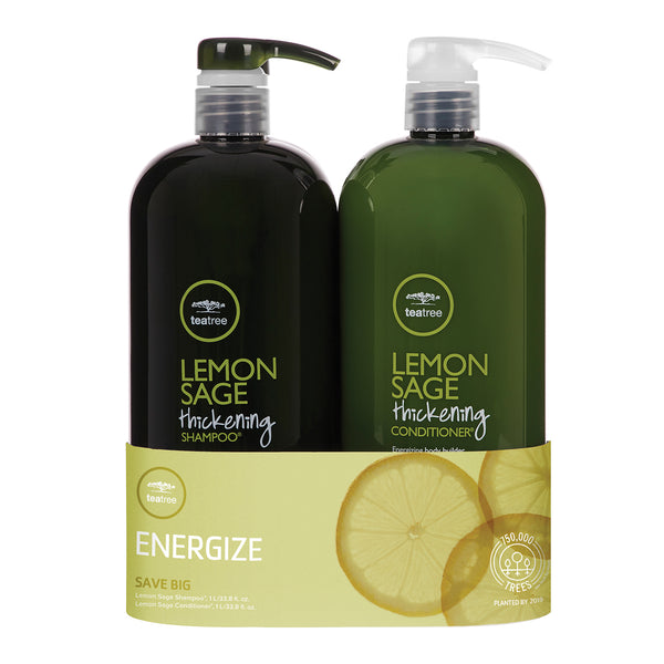 TEA TREE - Lemon Sage Thickening Shampoo & Conditioner Liter Duo - Hypnotic Store