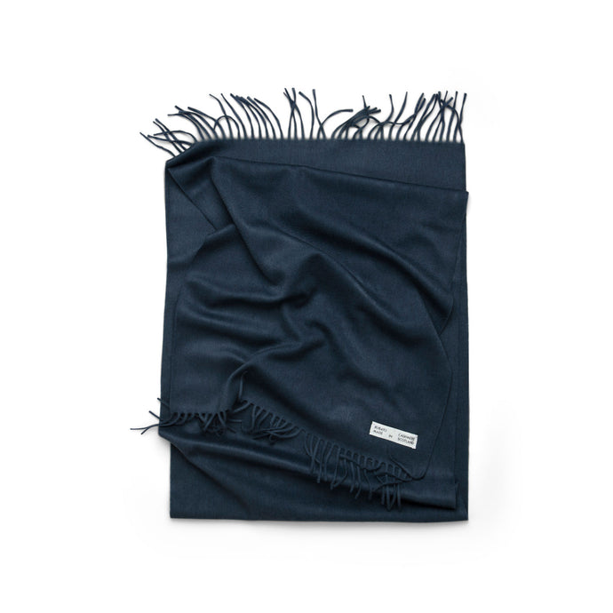 Rubato Cashmere Scarf in Steel Blue