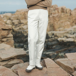 Rubato Officer's Chino in Ivory
