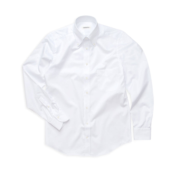 Rubato Button Down Shirt in White Twill