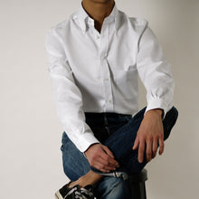 Load image into Gallery viewer, Rubato Button Down Shirt in White Twill