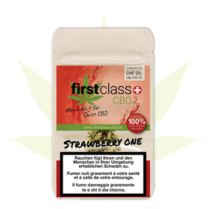 First Class Strawberry Indoor mit bis zu 15% CBD 2g - CBD Discounter