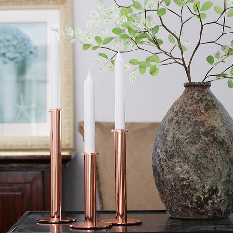 Handmade Modern Style Rose Gold Candle Holder - Happiness Hustle Store