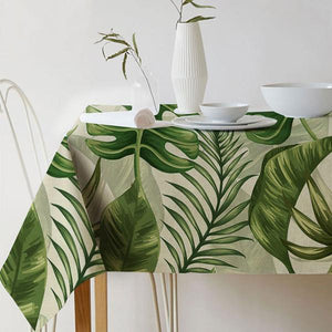 Table Cloth with Lively Leaf Design - Happiness Hustle Store
