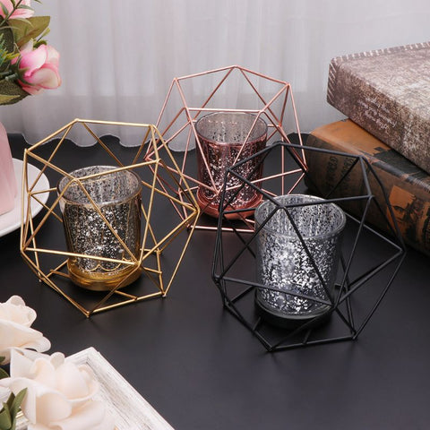 Candle Holder in Geometric Style - Happiness Hustle Store