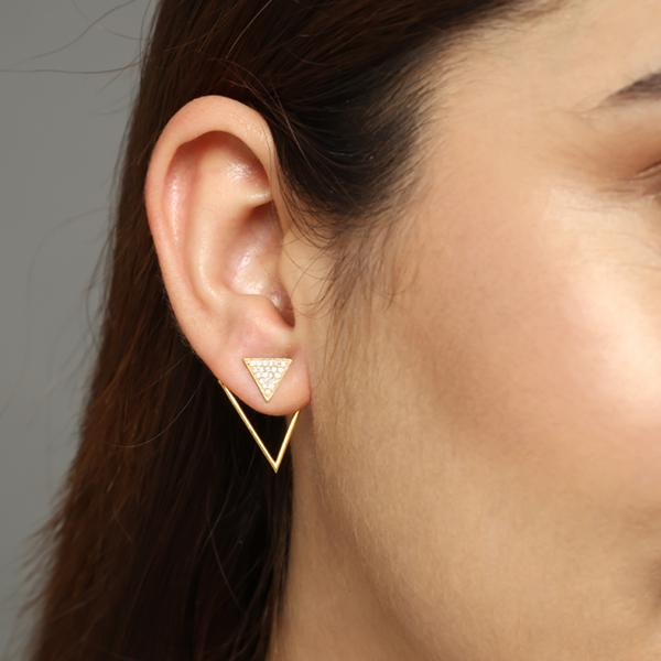 delta ear jackets for women, Jewelry for girlfriend, minimalist jewellery, real gold jewelry, buy gold earrings
