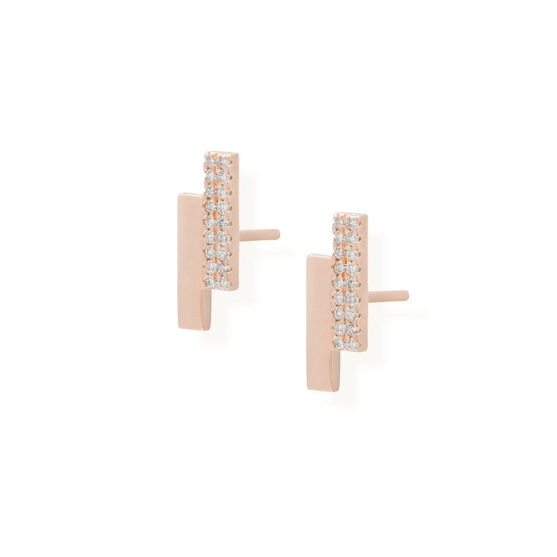 diamond aerrings for women in rose gold colour