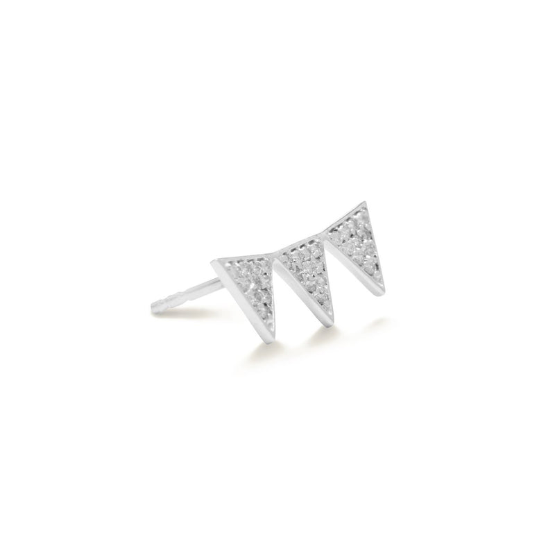 diamond earrings for women in white colour