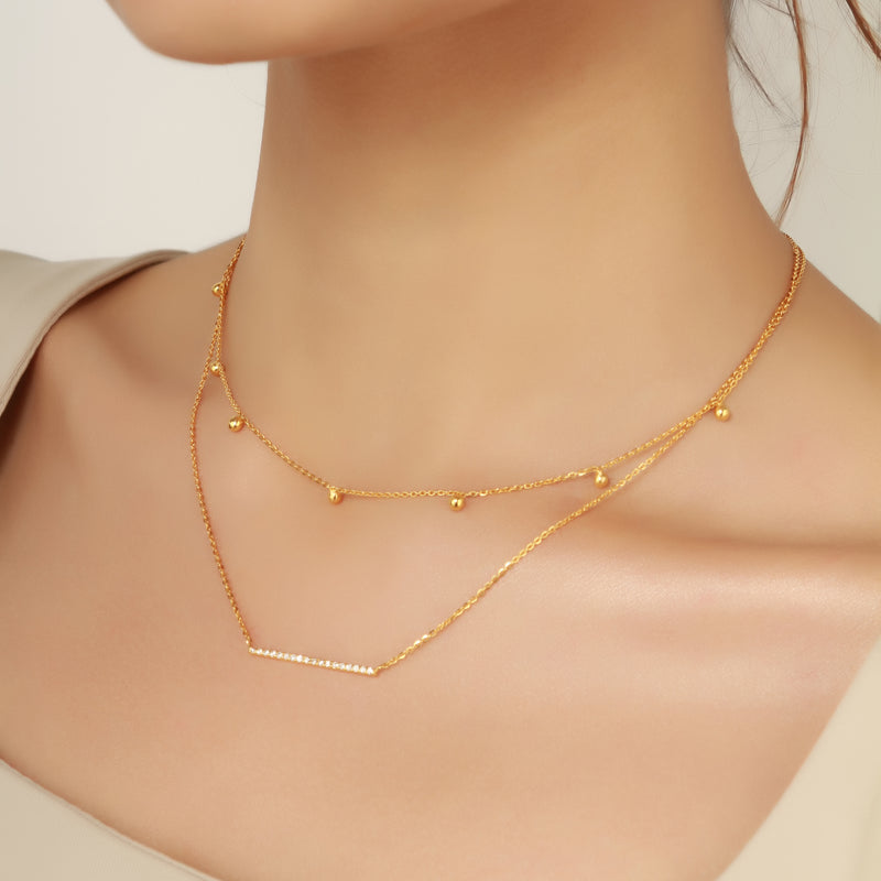 diamond line bar necklace, diamond necklace, fine jewellery
