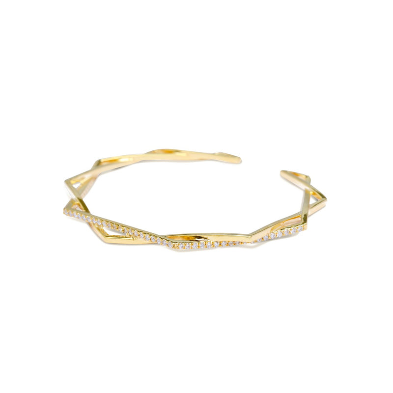 gold diamond bracelet for women, Jewelry for girlfriend, minimalist jewellery, real gold jewelry, diamond jewellery