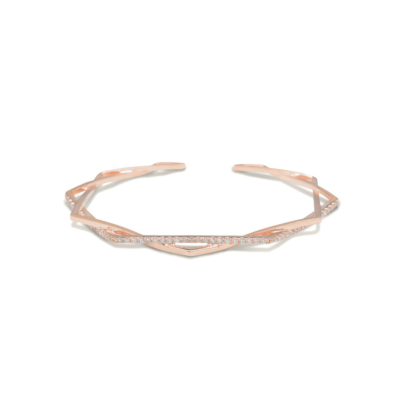 gold diamond bracelet for women In rose gold colour