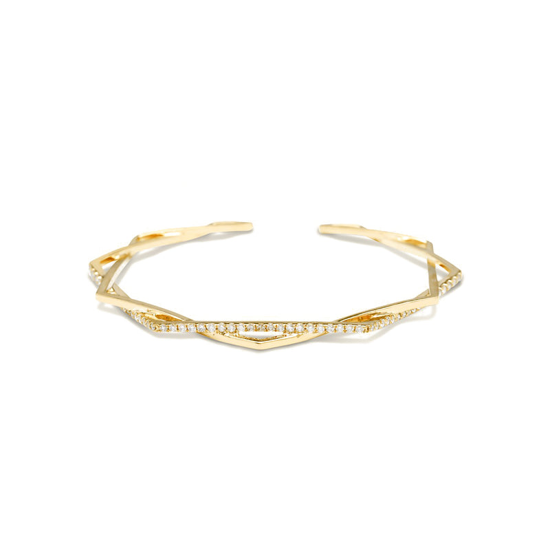 gold diamond bracelet for women, Gold Bar double ring for women, Jewelry for girlfriend, minimalist jewellery, real gold jewelry, diamond jewellery