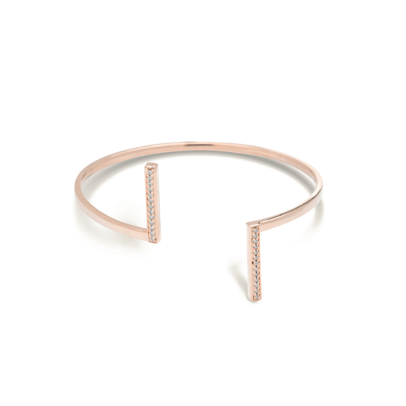 diamond bar bracelet for women in rose gold colour