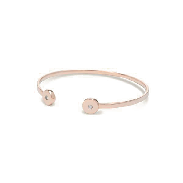 simple diamond bracelet for women in rose gold colour