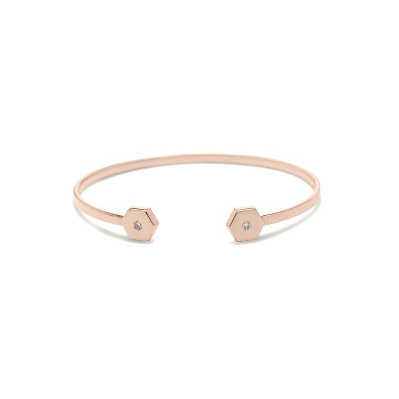 diamond bracelet for women in rose gold colour
