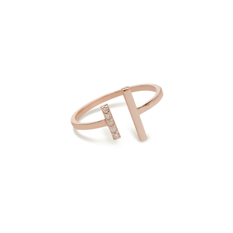 diamond ring for women in rose gold colour