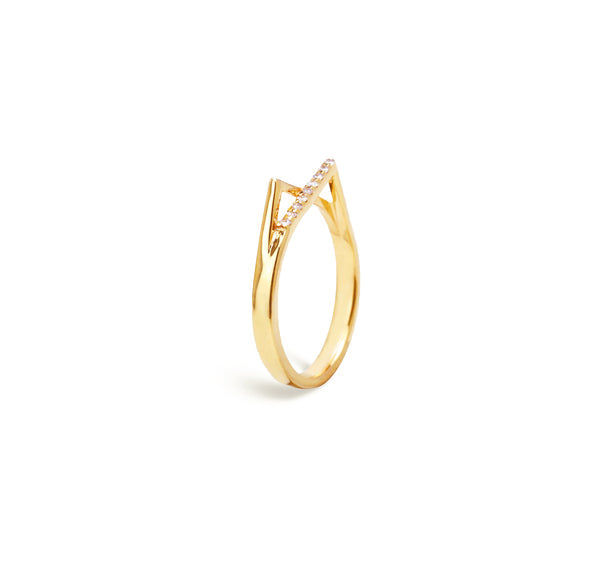 Gold diamond ring for women, Jewelry for girlfriend, minimalist jewellery, real gold jewelry, diamond jewellery