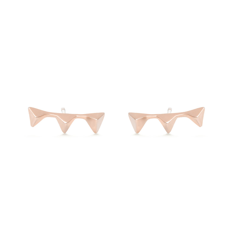 gold earrings for women in rose gold colour