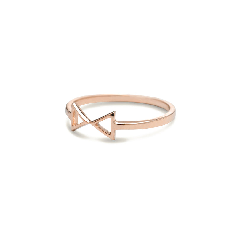 Gold bow ring for women In rose gold colour