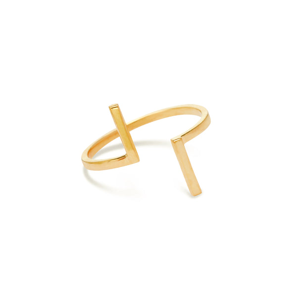 gold bar ring for women