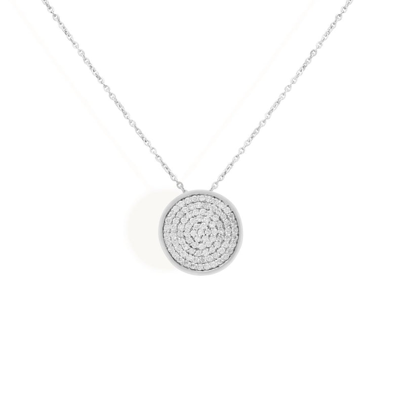 diamond necklace for women in white colour