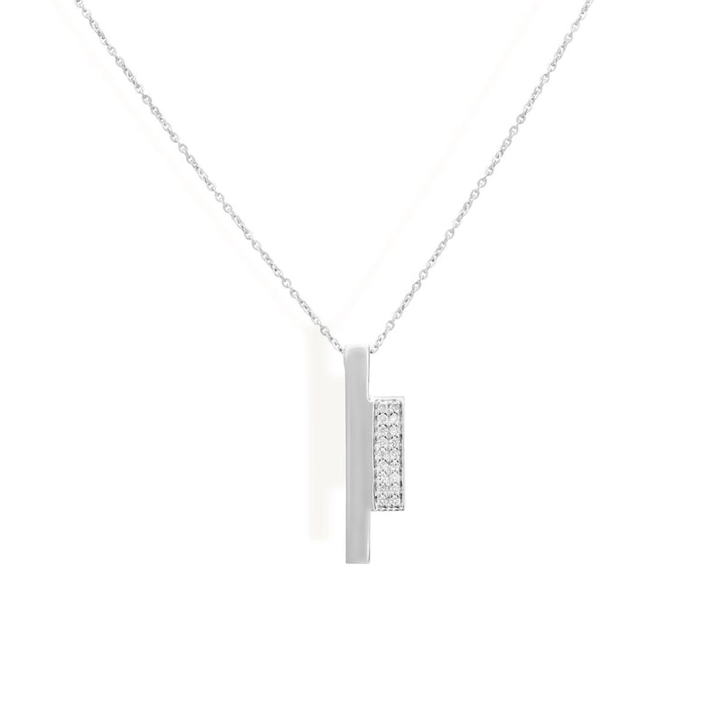 Diamond Block Necklace for women, Diamond Block earrings for women, gifts below 10000, gold chain with pendant, latest jewellery, white gold jewellery