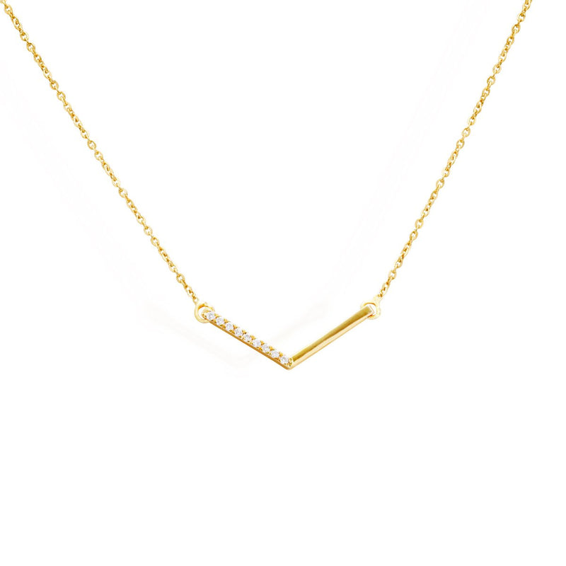 Diamond Chevron Necklace for women, gifts below 20000, gold chain with pendant, latest jewellery