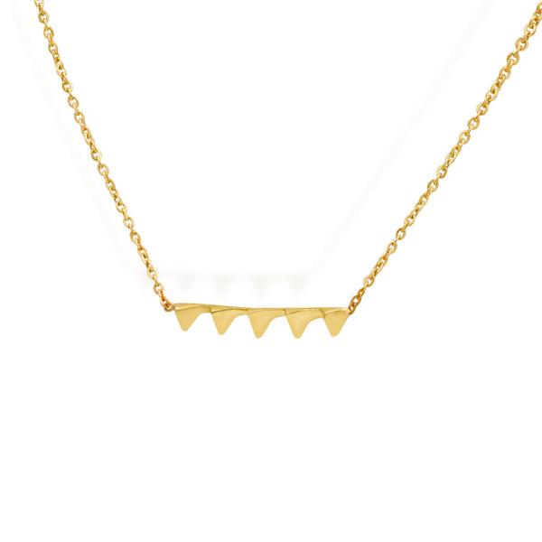Penta Necklace for women, minimalist jewellery, gold chain with pendant