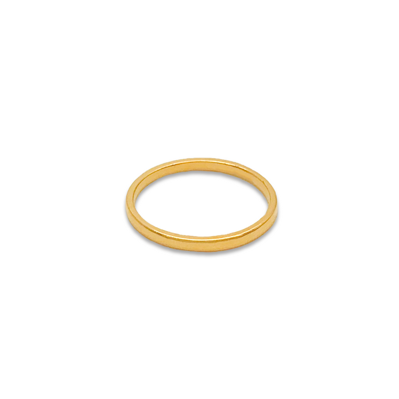 Classic band, gold rings for women, fine jewellery