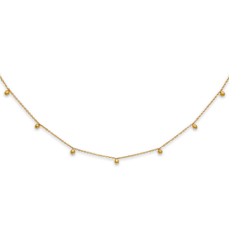 gold sphere necklace, gold choker, fine jewellery
