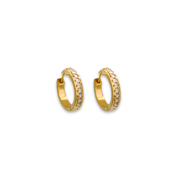 studded diamond huggie, diamond earrings, fine jewellery for women