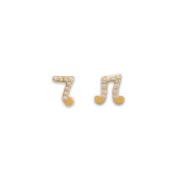 Music Note Studs