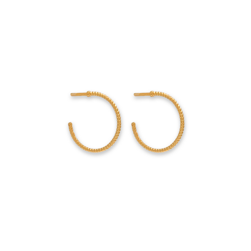 gold twisted hoops, twisty earrings, gold earrings for women, fine jewellery
