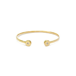 Round Cuff Bracelet for women, Jewelry for girlfriend, minimalist jewellery, real gold jewelry, diamond bracelet, simple bracelets