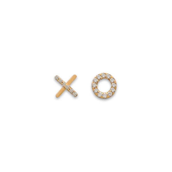 xo studs, small earrings, gold earrings, fine jewellery