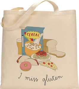 I MISS GLUTEN tote bag
