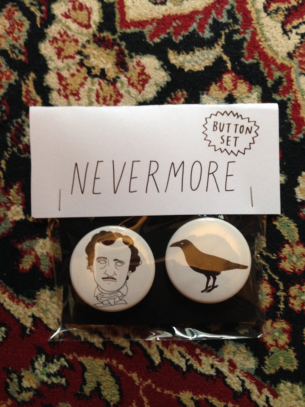 EDGAR ALLAN POE button set