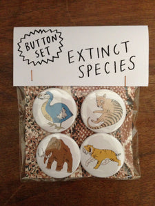 EXTINCT ANIMALS button set