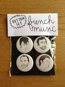 FRENCH MUSIC button set