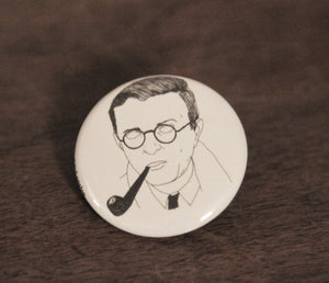 JEAN-PAUL SARTRE badge