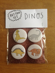 DINOS button set