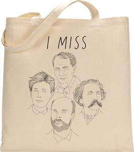 I MISS FRENCH POETS tote bag