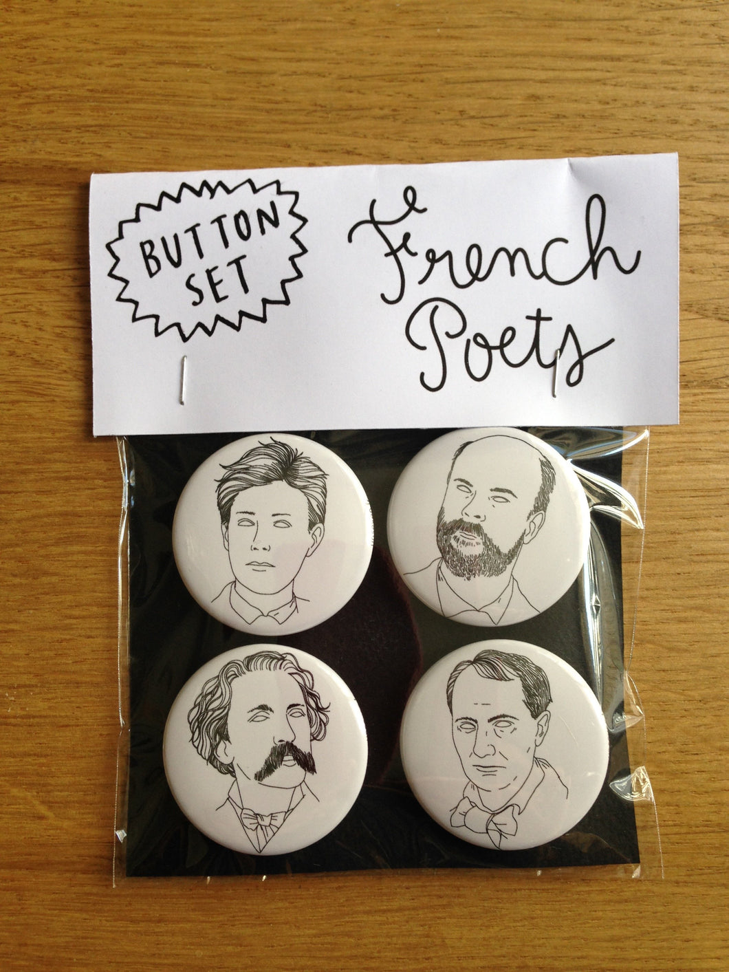 FRENCH POETS button set
