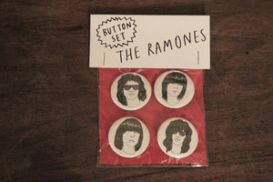 THE RAMONES button set
