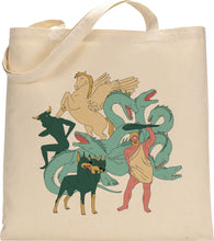 Load image into Gallery viewer, I MISS MYTHOLOGICAL CREATURES tote bag