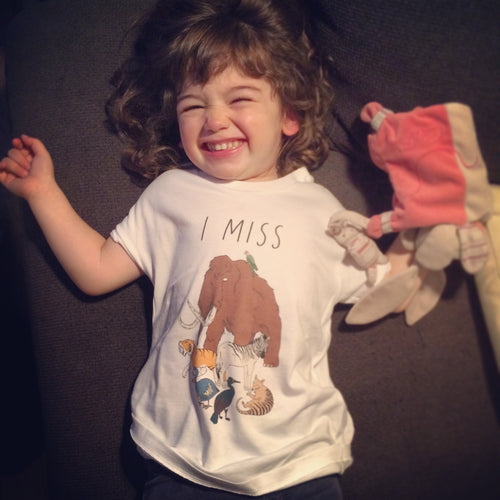 I MISS EXTINCT ANIMALS kids tee