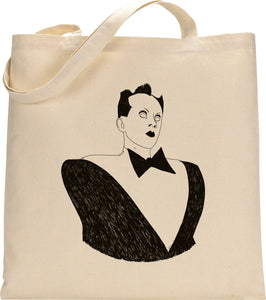 I MISS KLAUS NOMI tote bag