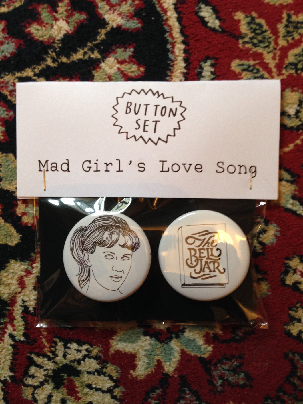 SYLVIA PLATH button set