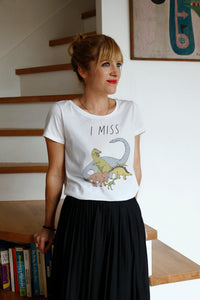 I MISS THE DINOSAURS women's tee